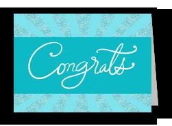 Sparkle Congrats 7x5 Folded Card