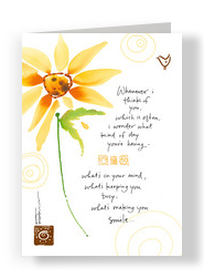Sunflower Smile 5x7 Folded Card