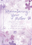 Remembering Your Mother 5x7 Folded Card