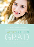 Blue Twenty Eighteen Grad 5x7 Flat Card