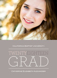 Gray Twenty Eighteen Grad 5x7 Flat Card