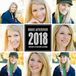 Black Eight Photo 2018 Grad 4.75x4.75 Folded Card