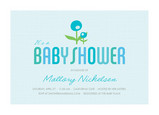 Blue Flower Baby 7x5 Flat Card