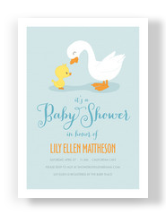 Duck Baby Shower 5x7 Flat Card