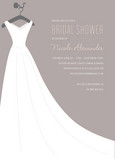 Gray Bridal Dress 5x7 Flat Card