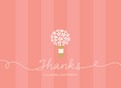 Pink Bouquet Thanks 5.25x3.75 Folded Card