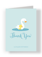 Baby Duck Thanks 3.75x5.25 Folded Card