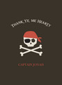 Pirate Thanks 3.75x5.25 Folded Card