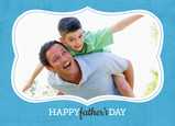 Blue Frame Dad 7x5 Folded Card
