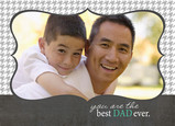 Hounds tooth Dad Frame 7x5 Folded Card