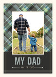 Navy Plaid Dad 5x7 Folded Card