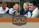 Worlds Greatest Dad 7x5 Folded Card