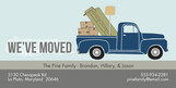 Moving Truck 8x4 Flat Card