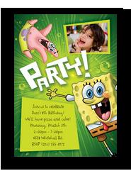 Party Spongebob 5x7 Flat Card