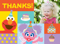 Elmo Square Thanks 5.25x3.75 Folded Card