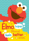 Elmo Hopes 5x7 Folded Card