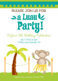 Luau Party 5x7 Flat Card
