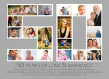 Fifty Photo Frame 7x5 Flat Card