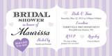 Purple Stripe Shower 8x4 Flat Card