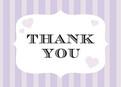 Purple Stripe Thanks 5.25x3.75 Folded Card