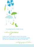 Blue Umbrellas 5x7 Flat Card