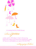 Pink Umbrellas 5x7 Flat Card