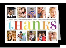 Many Thanks Photos 7x5 Folded Card