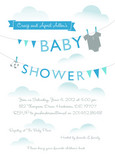 Blue Laundry Line Shower 5x7 Flat Card