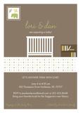 Baby Crib 5x7 Flat Card