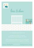 Blue Baby Crib 5x7 Flat Card
