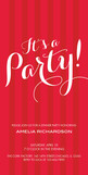 Red Stripe Party 4x8 Flat Card