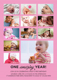 Pink Amazing Year 5x7 Flat Card