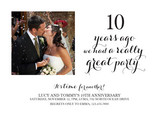 Ten Year Anniversary 7x5 Flat Card