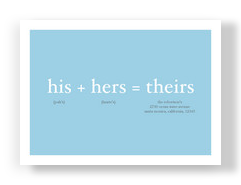 His and Hers 7x5 Flat Card
