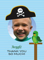 Pirate Photo Thanks 3.75x5.25 Folded Card