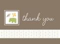 Gray Hippo Thanks 5.25x3.75 Folded Card