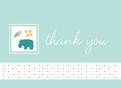 Blue Hippo Thanks 5.25x3.75 Folded Card