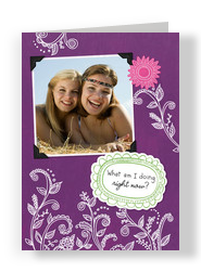 Just Missing You 5x7 Folded Card