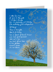 Best Friend Tree 5x7 Folded Card