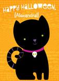 Halloween Black Cat 5x7 Folded Card
