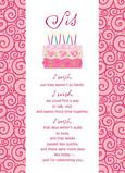 Pink Cake 5x7 Folded Card
