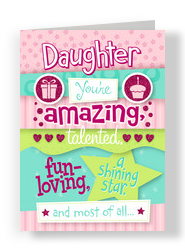 Amazing Daughter 5x7 Folded Card