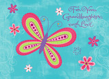 Butterfly Love 7x5 Folded Card