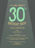 30th Birthday Bash 5x7 Flat Card