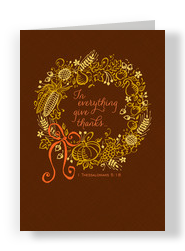 Give Thanks Wreath 5x7 Folded Card