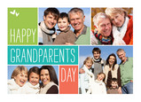 Colorblock Grandparents Day 7x5 Folded Card