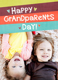 Color Stripe Grandparents 5x7 Folded Card
