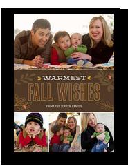 Warmest Fall Wishes 5x7 Flat Card
