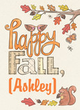 Happy Fall 5x7 Folded Card