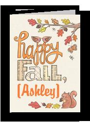 Happy Fall 5x7 Folded Card